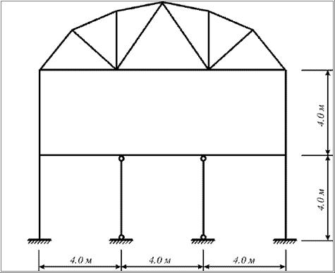 Расчетная схема поперечника