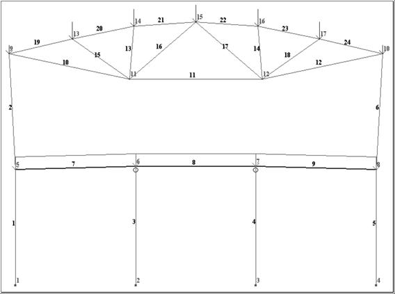 Расчетная схема с учетом